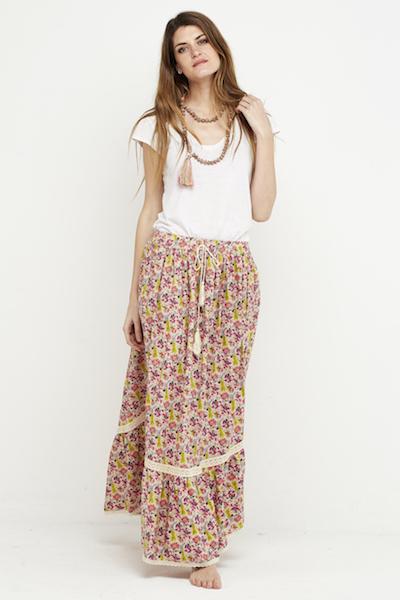 falda florecitas boho puntilla 6