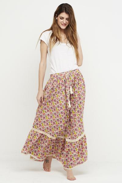 falda florecitas puntilla boho 2