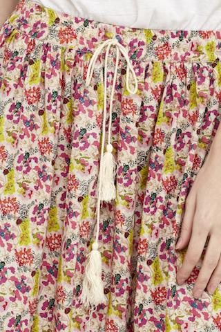 falda florecitas puntilla boho 4