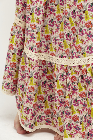 falda florecitas puntilla boho 5