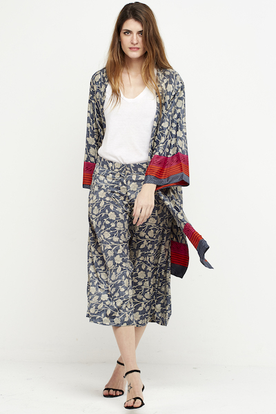 kimono seda corto reversible boho gris 1