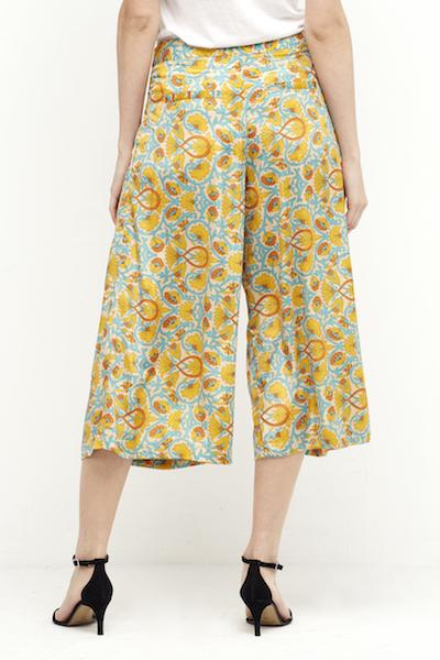 pantalon culotee seda boho amarillo 3