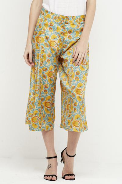 pantalon culotte boho seda amarillo 2