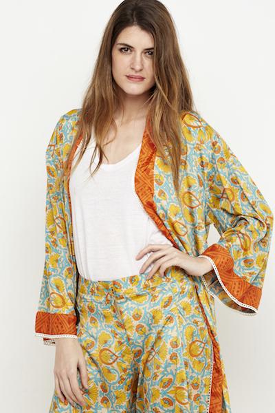 pantalon culotte seda boho amarillo 1