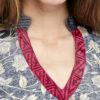 tunica boho seda gris rojo 7