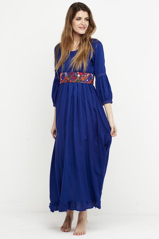 vestido boho chic azulon 4