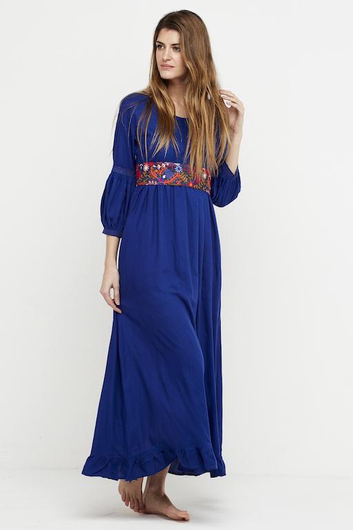 vestido boho chic azulon 5