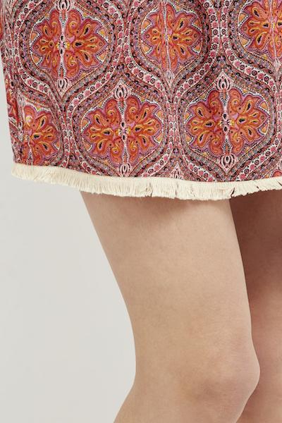 vestido boho chic corto coral ibiza