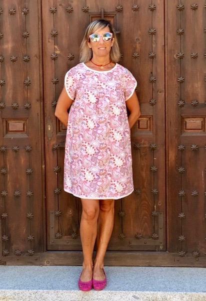vestido boho chic florecitas