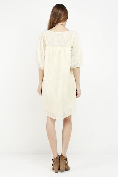 vestido boho cream corto