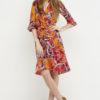 vestido boho cruzado naranja 2