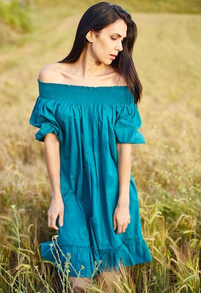 vestido boho turquesa hombros 1