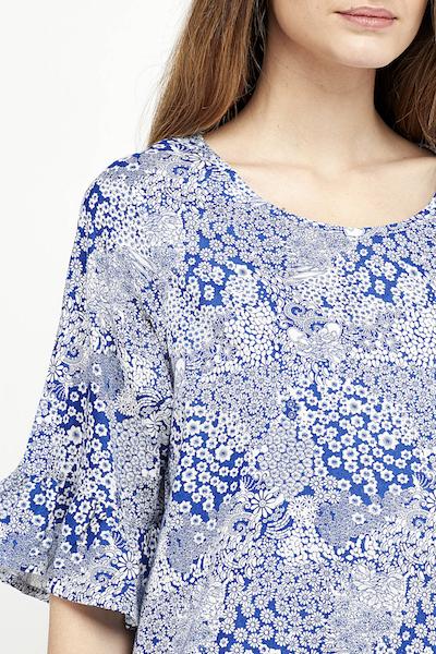 vestido corto boho detalle azul