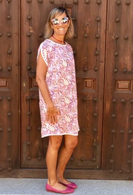 vestido corto boho florecitas