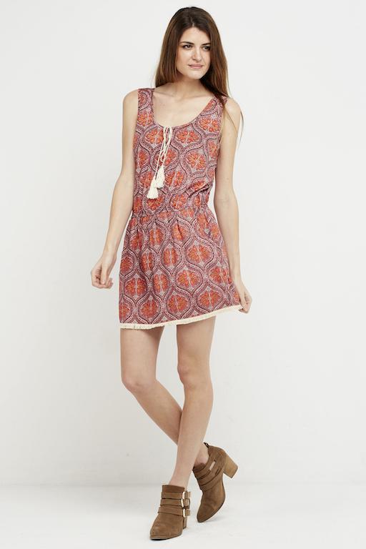 vestido corto ibiza style boho chic corto