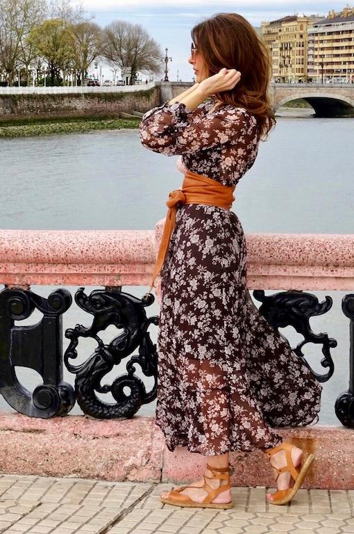 vestido gasa marron 2