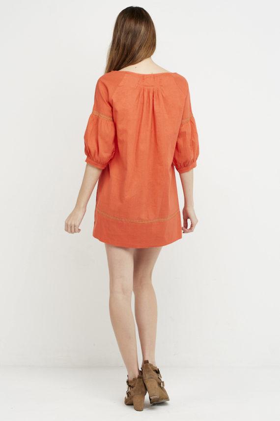 vestido jaretitas coral parte trasera