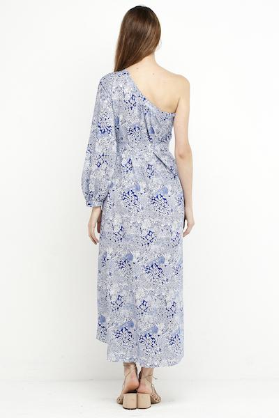 vestido largo boho azul hombro 6