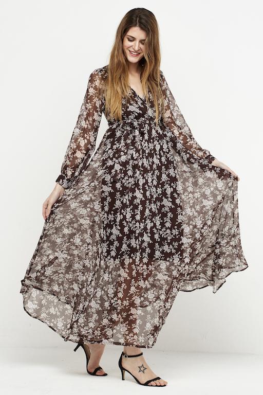 vestido largo boho marron 3