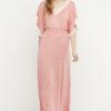 vestido largo puntilla boho rosa 4