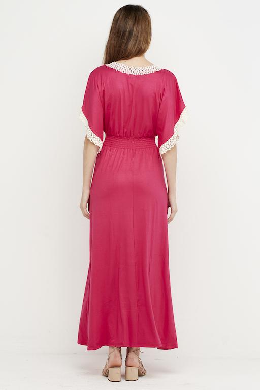vestido largo puntilla fucsia 3