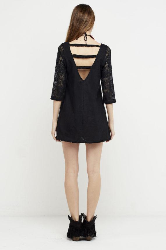 vestido negro corto croche 4