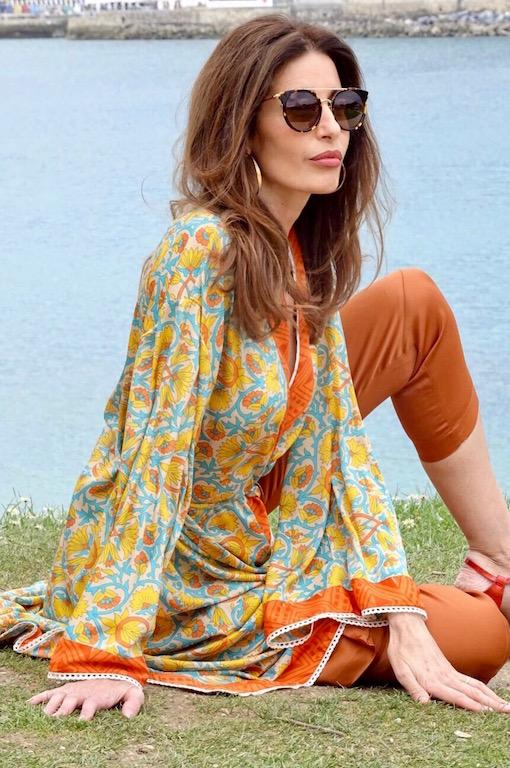 kimono largo na chic