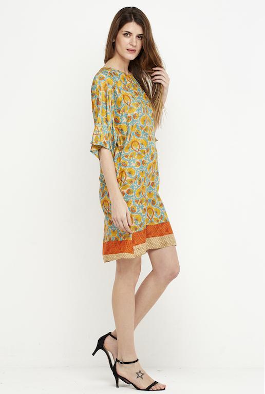 tunica vestido corto amarillo 3