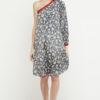 vestido corto boho hombro gris 2