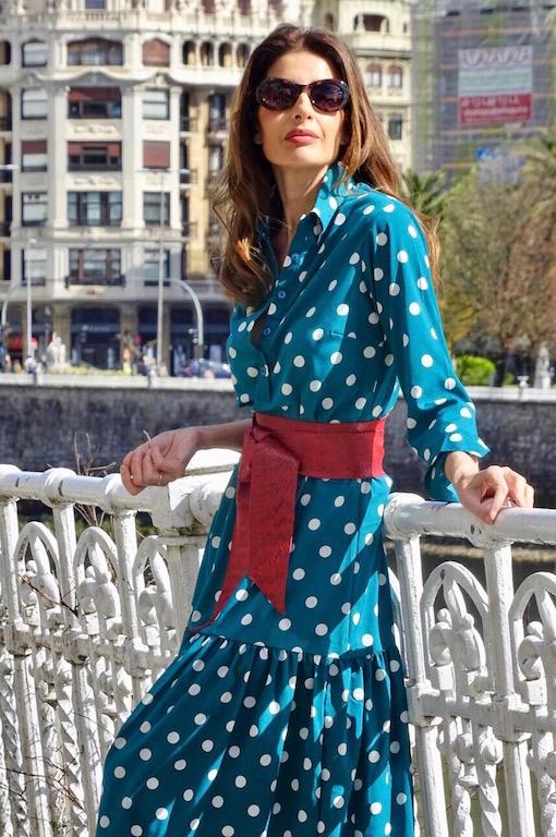 vestido boho lunares 1