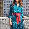 vestido lunares boho azul 2